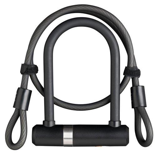 AXA Beugelslot Axa Newton Mini Pro + kabel 100/10 - zwart (winkelverpakking)
