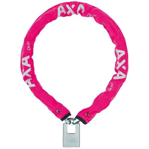 AXA Kettingslot AXA Clinch+ 85cm / ø6mm - roze (winkelverpakking)