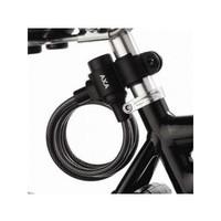 Spiraalkabelslot AXA Rigid 180/8 met framehouder - zwart (op kaart)