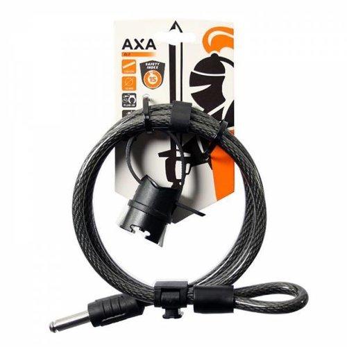 AXA Slotkabel Axa RLE 150/10 met houder - Zwart