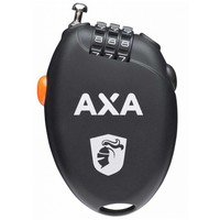 Kabelslot Axa Roll oprolbare staalkabel 75cm*1.6mm met cijfercode (op kaart)