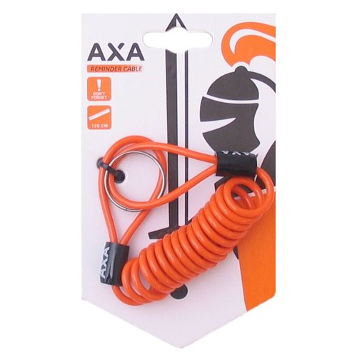 AXA Schijfremslot Reminder Cable AXA 120cm - oranje (op kaart)