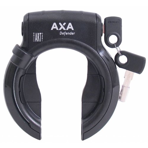 AXA Ringslot Axa Defender - Glanzend Zwart + Bosch 2 Tube Cilinder
