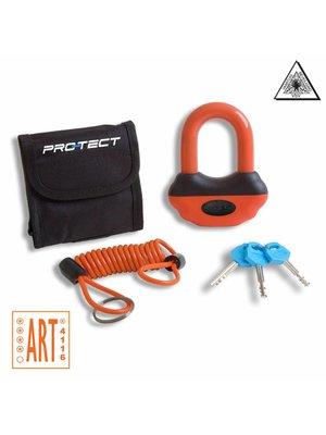 Pro-Tect Schijfremslot Topaz ART-4 - Zwart / Oranje
