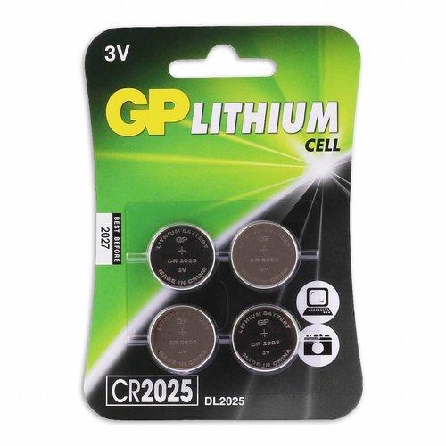 Cr2025 Lithium-Knoopcelbatterijen 3V 4pk
