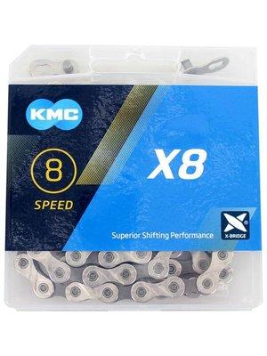 "KMC KMC X8 Ketting - 6/7/8 Speed - 1/2"" x 3/32"" - 114 Schakels"