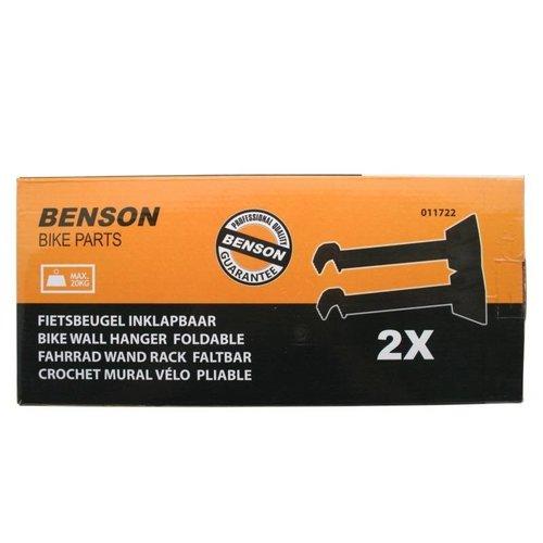 Benson Inklapbare Fietsbeugel / Muurbeugel - 2-delig