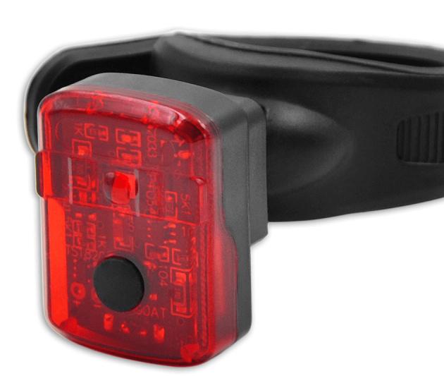 Lynx achterlicht Easyfix USB batterij led rood