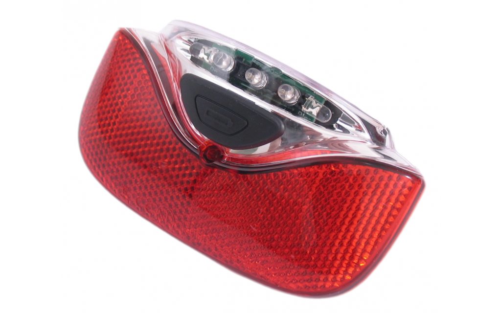 Gazelle achterlicht Innergy led E bike 115 mm rood-transparant