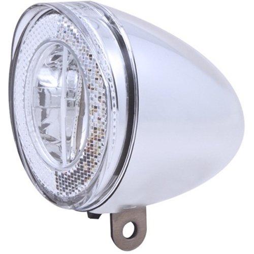 Spanninga Koplamp Spanninga Swingo XB LED met reflector incl. batterijen - chroom