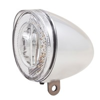 Koplamp Spanninga Swingo XDO LED met reflector en dynamo-aansluiting - chroom