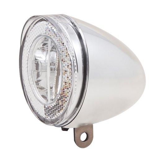 Spanninga Koplamp Spanninga Swingo XDO LED met reflector en dynamo-aansluiting - chroom