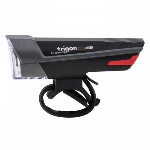 Spanninga Koplamp Spanninga Trigon 15 - USB oplaadbaar