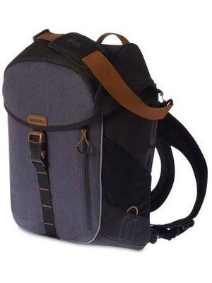 Basil Fietsschoudertas Basil Miles Daypack 17 liter - zwart/grijs