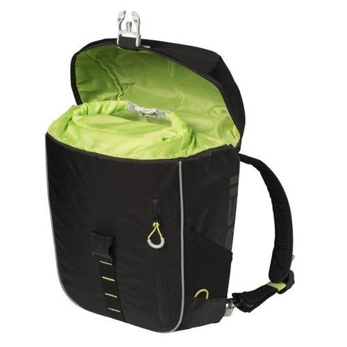 Basil Fietsschoudertas Basil Miles Daypack 17 liter - zwart/lime