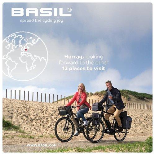 Basil Dubbele fietstas Basil Miles Double Bag 34 liter - zwart/grijs