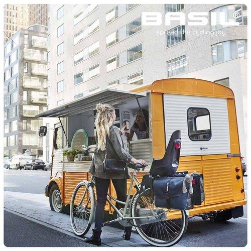 Basil Dubbele fietstas Basil Forte 35 liter - marineblauw / zwart