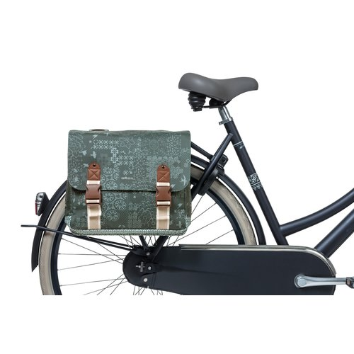 Basil Dubbele fietstas Basil Bohème Carry All - 35 liter - groen