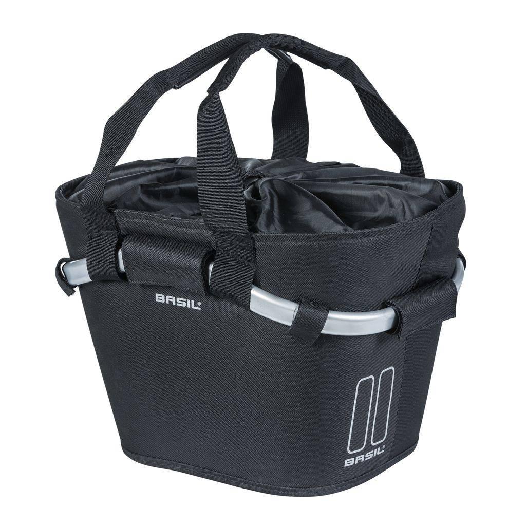 Basil Fietsmand Basil Classic Carry All Front 15 liter - zwart