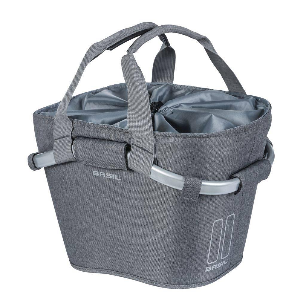 Basil designmand Carry All voorop 15 liter grijs