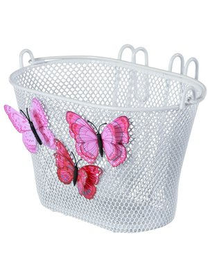 Basil Kinderfietsmand Basil Jasmin Butterfly - wit