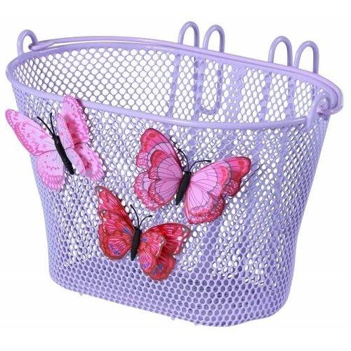 Basil Kinderfietsmand Basil Jasmin Butterfly - lila