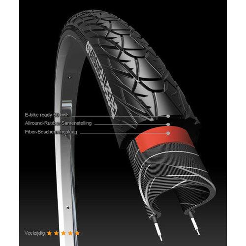 """CST Buitenband CST Sensamo Classic Allround 28x1.40"""" / 37-622 mm - zwart met reflectie"""