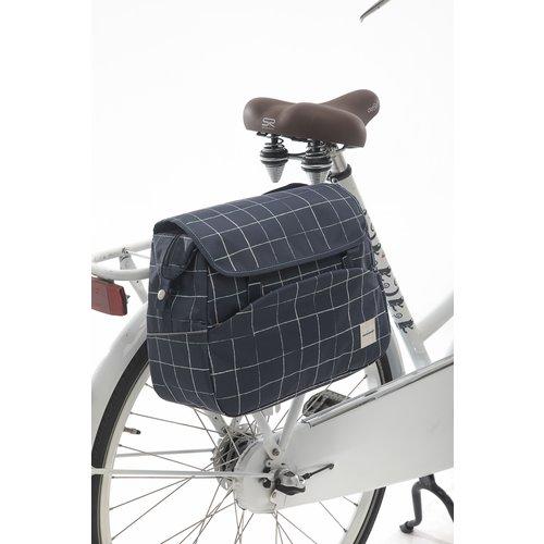 New Looxs Enkele fietstas / schoudertas New Looxs Tosca - 16 liter - check blue