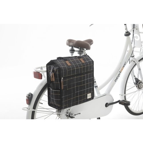 New Looxs Enkele fietstas New Looxs Lilly - 18 liter - check black
