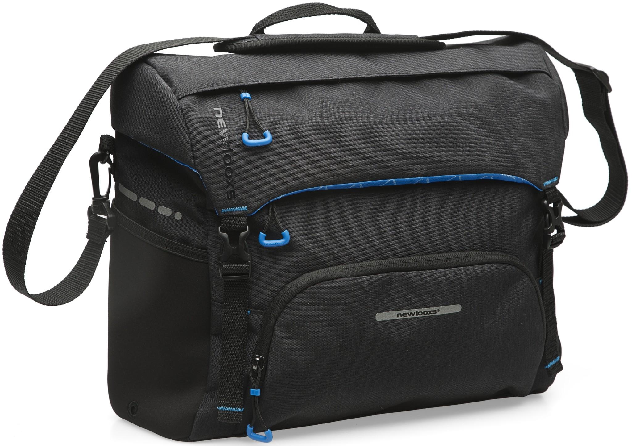 New Looxs Schoudertas / pakaftas New Looxs Messenger Bag Black - 16,5 liter