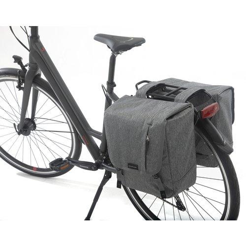 New Looxs Dubbele fietstas New Looxs Nova Double - 32 liter - grijs
