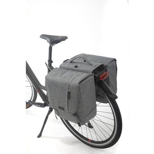 New Looxs Dubbele fietstas New Looxs Nova Double afneembaar - 32 liter - grijs