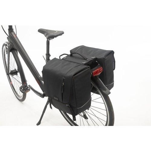 New Looxs Dubbele fietstas New Looxs Nova Double Racktime - 32 liter - zwart