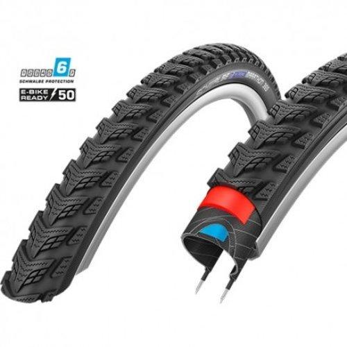 """Schwalbe Buitenband Schwalbe Marathon GT 365 DualGuard 26 x 2.00"""" / 50-559 mm - zwart met reflectie"""