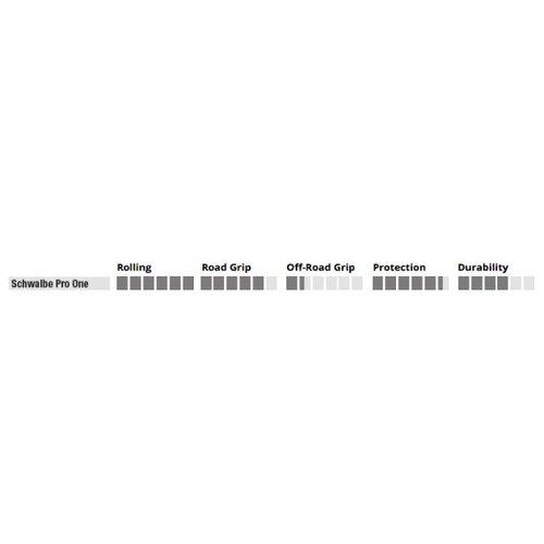 "Schwalbe Buitenband Schwalbe Pro One 28 x 0.90"" / 23-622 vouwbaar - zwart"