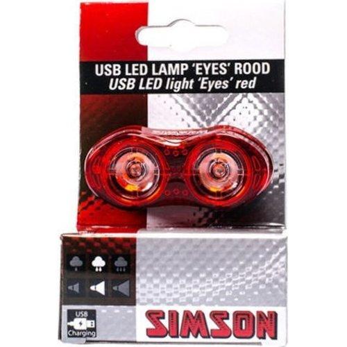 "Simson Simson USB LED lamp ""Eyes"" - rood"