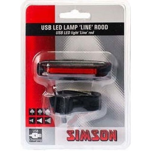 Simson Simson USB LED lamp ''Line'' 20 LED's 3 Lux - rood