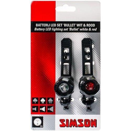 """Simson Simson Battery LED Verlichtingsset """"Bullet"""" 2.5/1.5 Lux"""