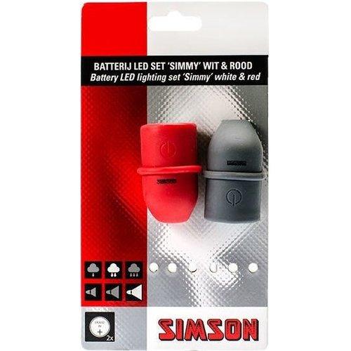 Simson Simson Verlichtingsset LED ''Simmy'' - zwart/rood (batterij)