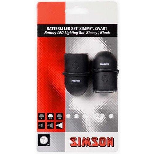 Simson Simson Batterij LED set ''Simmy'' - zwart/zwart