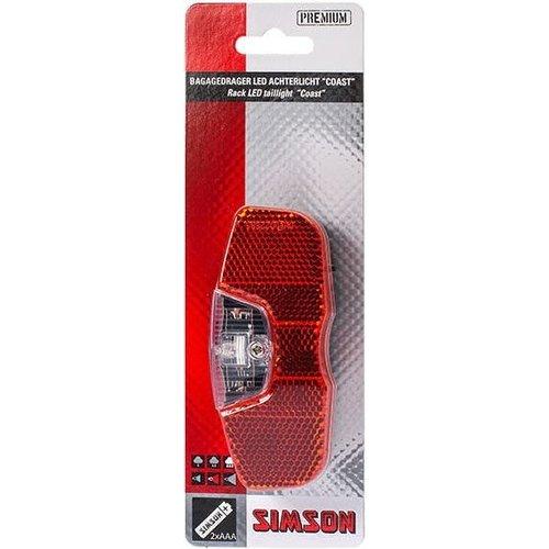 Simson Simson Bagagedrager achterlicht ''Coast'' 1 LED - On/Off (batterij)
