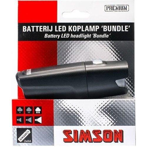 """Simson Simson Koplamp """"Bundle"""" 1 LED met batterijen"""