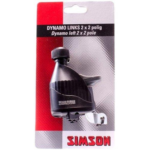 Simson Simson Dynamo Links met Rubberen Loopwiel - zwart