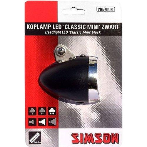 Simson Simson Koplamp Voorvork ''Classic Mini'' - zwart