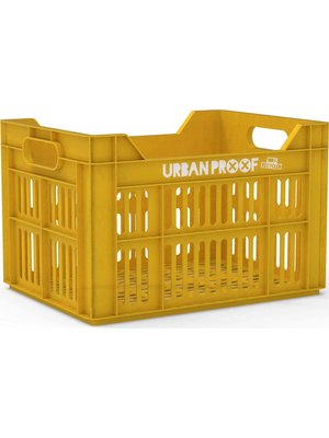 Urban Proof UP Fietskrat 30L Ocre yellow - RECYCLED