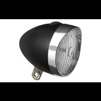 Edge Koplamp Retro 3 LED - Zwart | Chroom