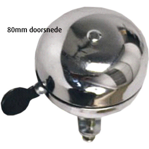 Import Fietsbel Ding Dong 80mm - Chroom