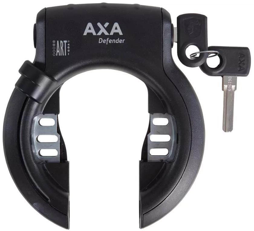 AXA Ringslot Axa Defender - glanzend zwart + Bosch 2 rack cilinder (werkplaatsverpakking)