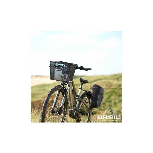 Basil Fietsschoudertas Basil Miles Daypack 17 liter - Zwart / Grijs
