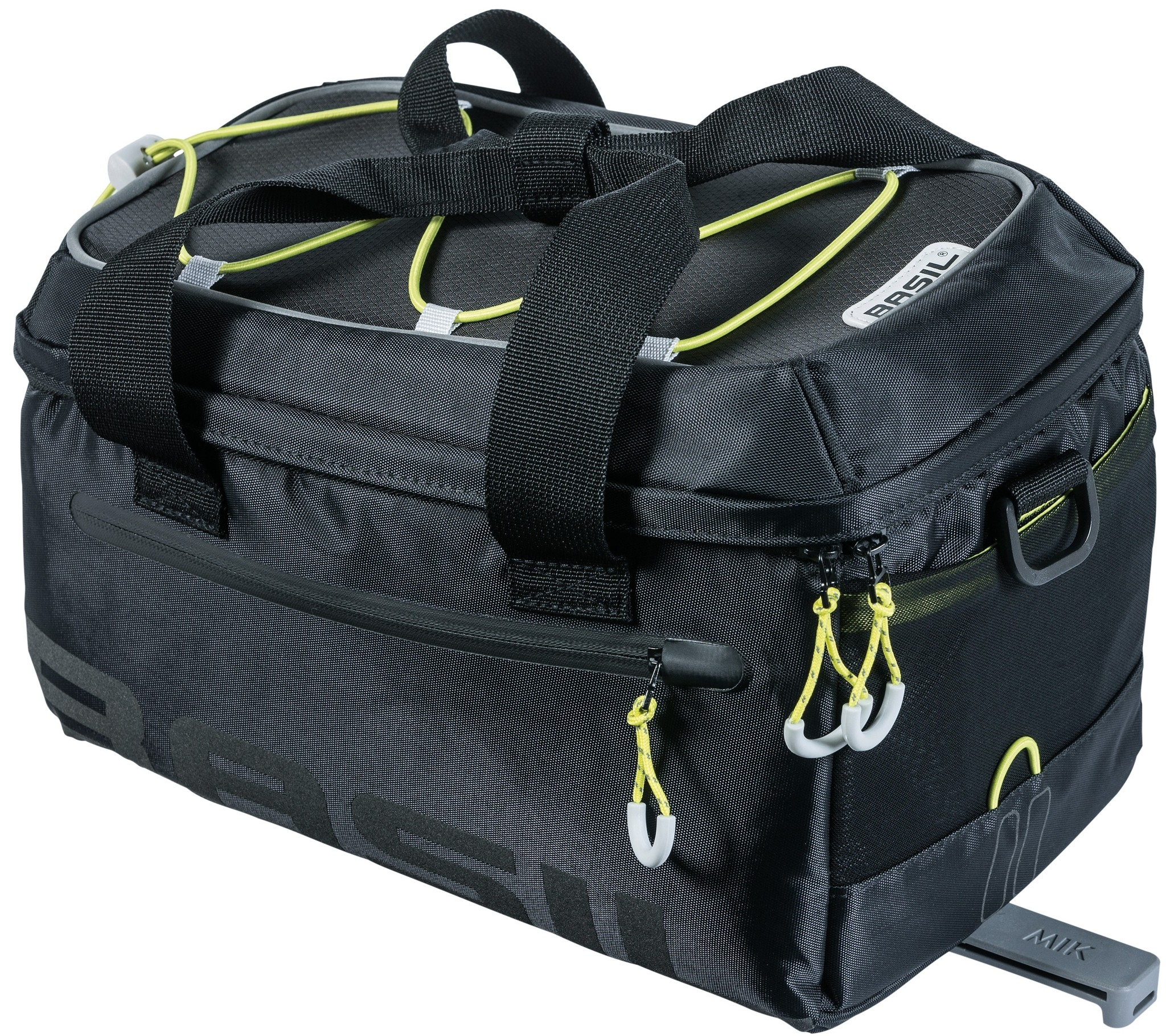 Basil Bagagedragertas / schoudertas Basil Miles Trunkbag MIK 7 liter - zwart/lime